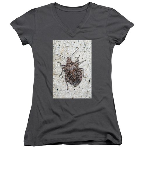 Women's V-Neck T-Shirt (Junior Cut) featuring the photograph Stink Bug by Breck Bartholomew
