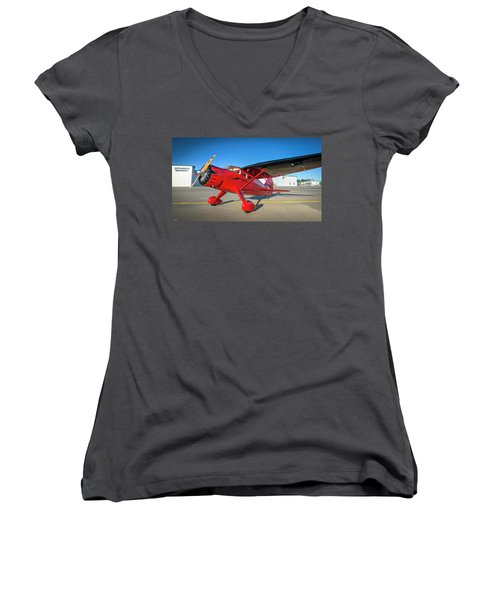 Stinson Reliant Rc Model 03 Women's V-Neck (Athletic Fit)