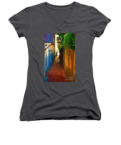 Stoll's Ally Women's V-Neck T-Shirt (Junior Cut) by Donna Bentley