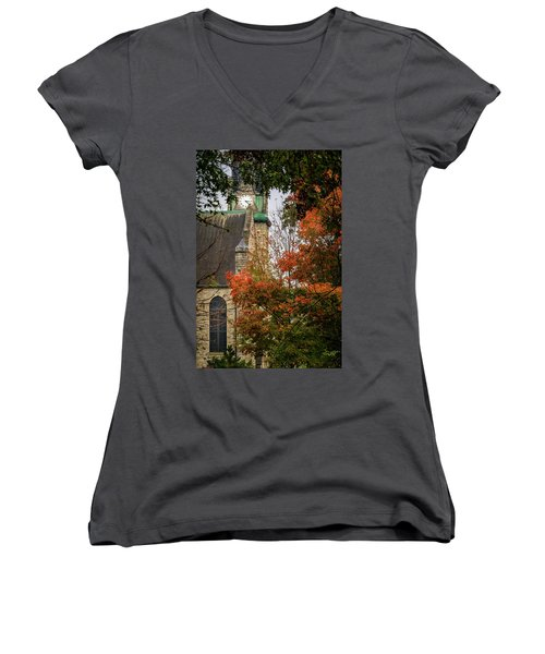Stone Chapel Fall Women's V-Neck