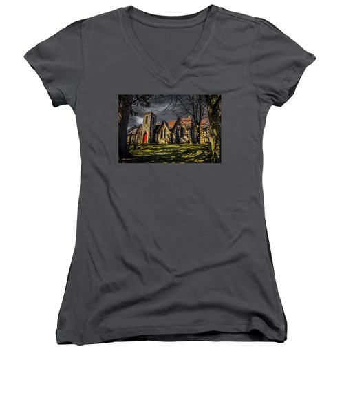 Stone Church Hamilton Women's V-Neck T-Shirt