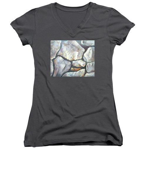 Stone Wall Women's V-Neck (Athletic Fit)