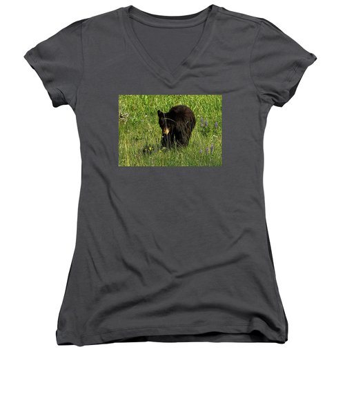 Stopping To Smell The Flowers Women's V-Neck
