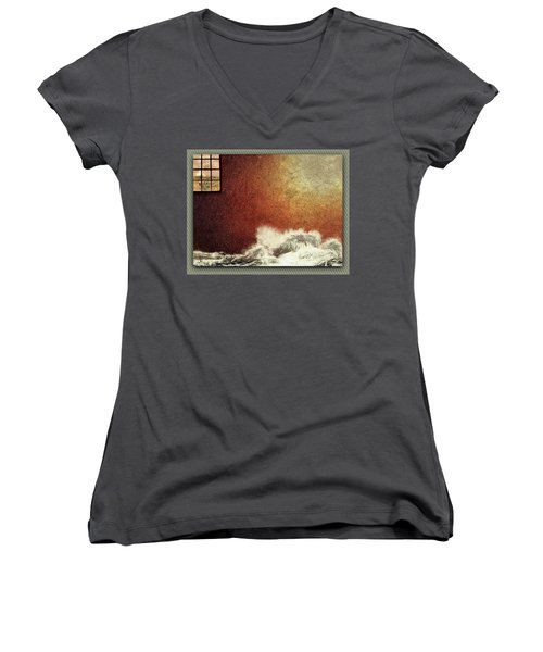 Storm Against The Walls Women's V-Neck (Athletic Fit)