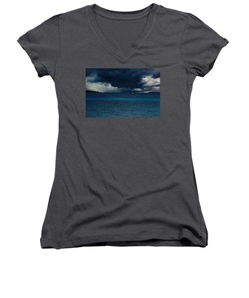 Storm Front Women's V-Neck T-Shirt