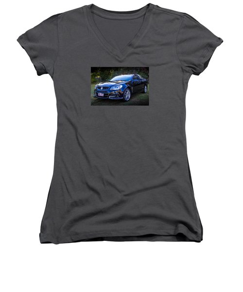 Women's V-Neck T-Shirt (Junior Cut) featuring the photograph Storm by Keith Hawley