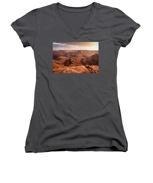 Storm Over Canyonlands Women's V-Neck