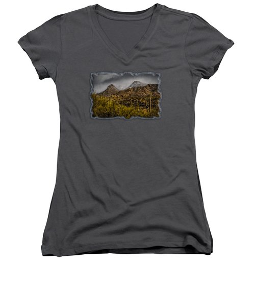 Storm Over Catalinas 15 Women's V-Neck (Athletic Fit)