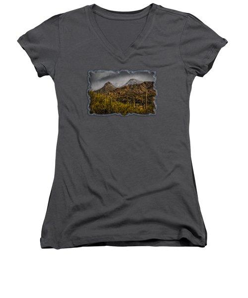 Storm Over Catalinas 15 Women's V-Neck T-Shirt