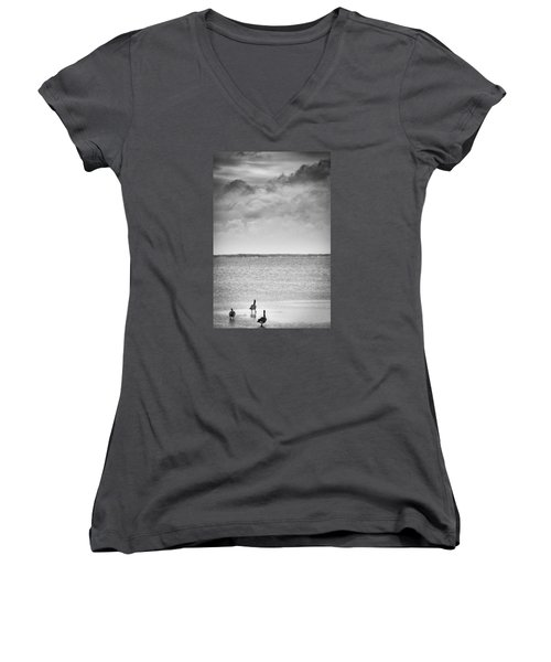Canada Geese - Currituck Sound Women's V-Neck T-Shirt
