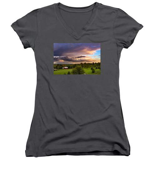 Stormy Clouds Women's V-Neck