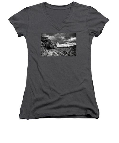 Stormy Misery Ridge  Women's V-Neck T-Shirt