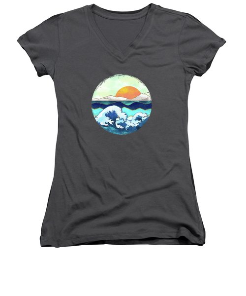 Stormy Waters Women's V-Neck (Athletic Fit)