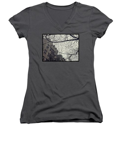 Stormy Weather Women's V-Neck T-Shirt (Junior Cut) by Sarah Loft