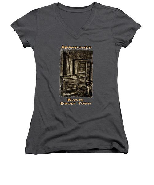 Stove And Cabinet Bodie Ghost Town Women's V-Neck
