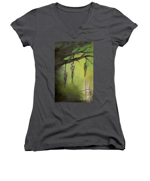 Strange Fruit Women's V-Neck T-Shirt