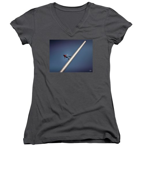 Strasbourg Public Artwork Women's V-Neck