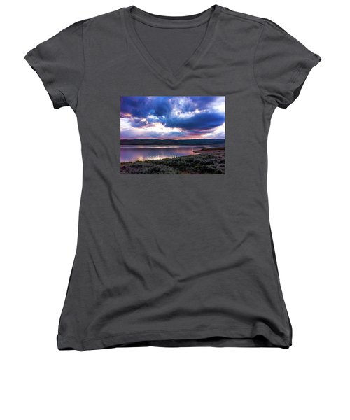 Strawberry Sunset Women's V-Neck