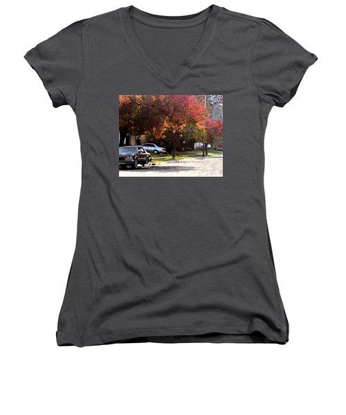 Street Cat Women's V-Neck T-Shirt (Junior Cut)