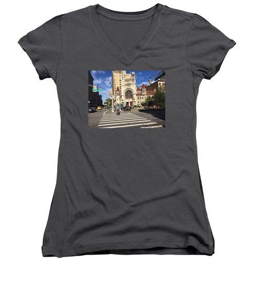 Street Crossing Women's V-Neck T-Shirt