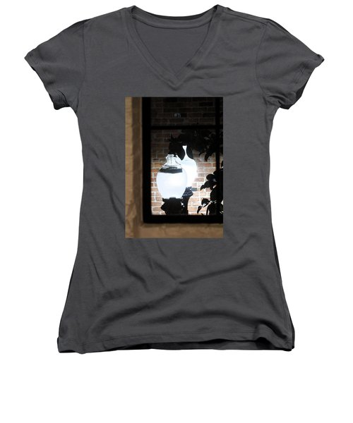 Street Light Through Window Women's V-Neck T-Shirt