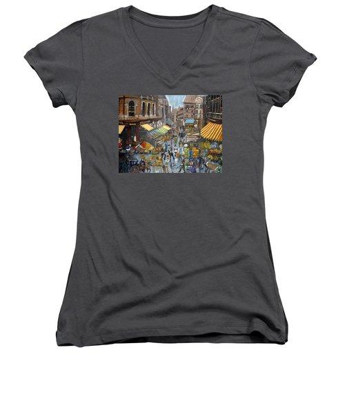 Street Scene Market Women's V-Neck T-Shirt