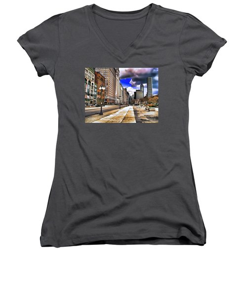 Streets Of Chicago Women's V-Neck