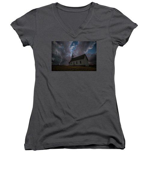 Women's V-Neck T-Shirt featuring the photograph Striking  by Aaron J Groen