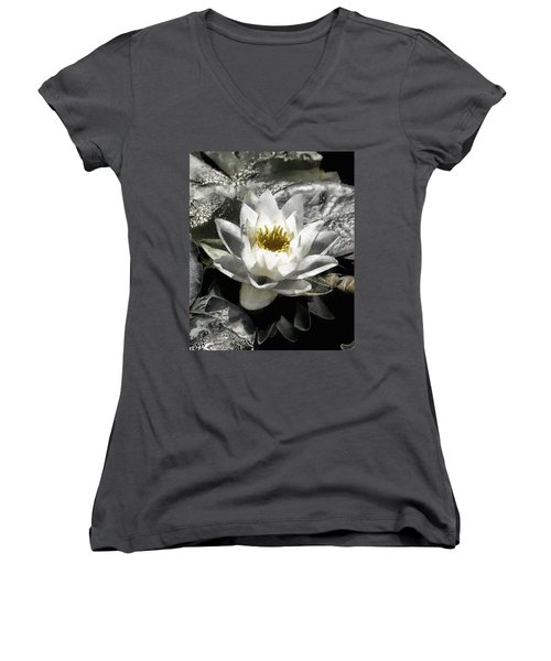 Strokes Of The Lily Women's V-Neck