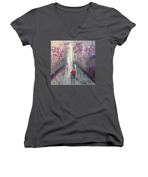 Strolling Women's V-Neck T-Shirt (Junior Cut) by Roxy Rich