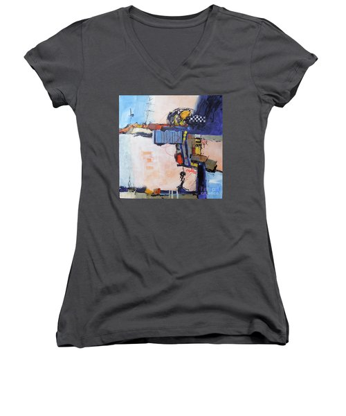 Structured Women's V-Neck T-Shirt (Junior Cut) by Ron Stephens