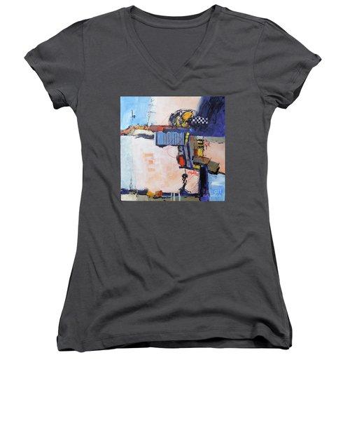 Structured Women's V-Neck T-Shirt
