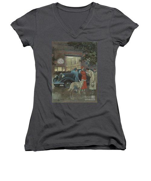 Studebaker #8704 Women's V-Neck (Athletic Fit)