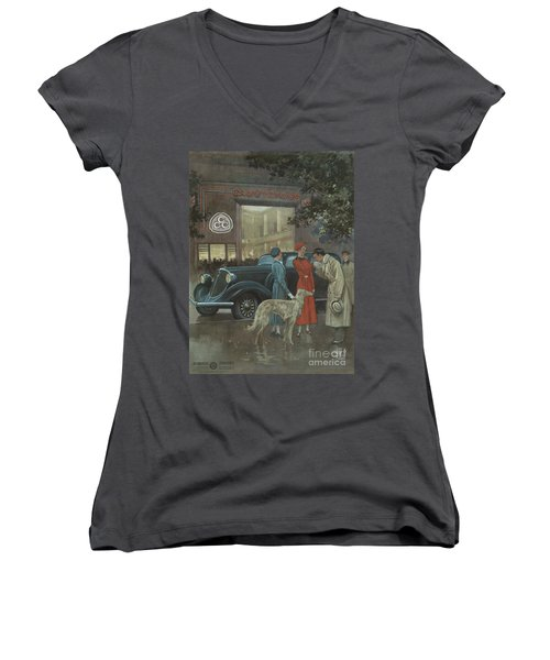 Studebaker #8704 Women's V-Neck (Athletic Fit)