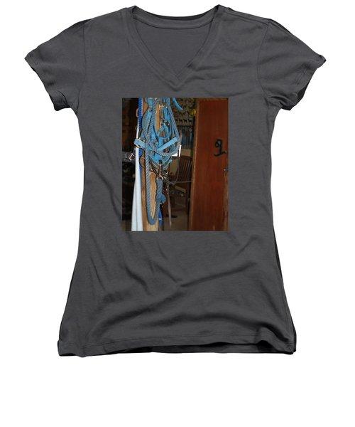 Stuff In The Barn Women's V-Neck T-Shirt