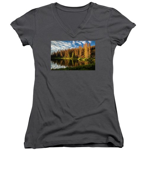 Stunning Sunrise Women's V-Neck (Athletic Fit)