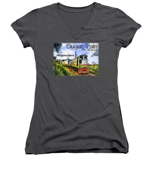 Sugar Train St. Kitts Shirt Women's V-Neck (Athletic Fit)