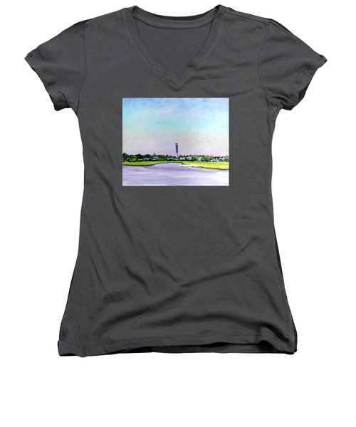Sullivans Island Lighthouse Women's V-Neck