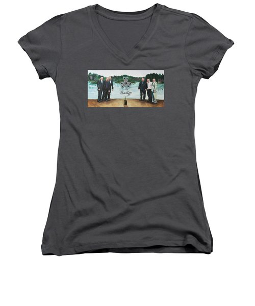 Sully Women's V-Neck T-Shirt (Junior Cut) by Steve Hunter