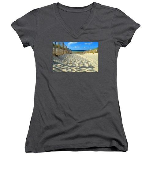 Sultry September Beach Women's V-Neck T-Shirt