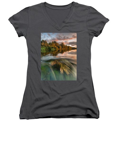 Summer Afternoon Women's V-Neck (Athletic Fit)