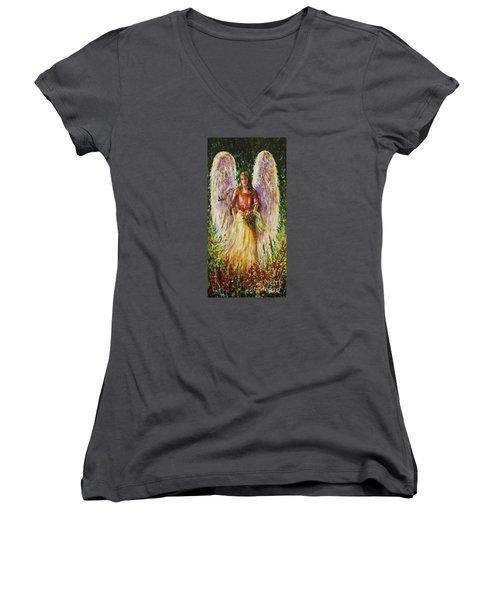 Summer Angel Women's V-Neck T-Shirt