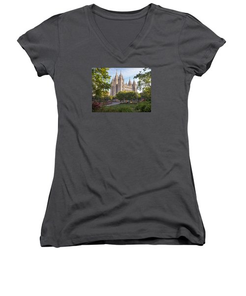 Summer At Temple Square Women's V-Neck
