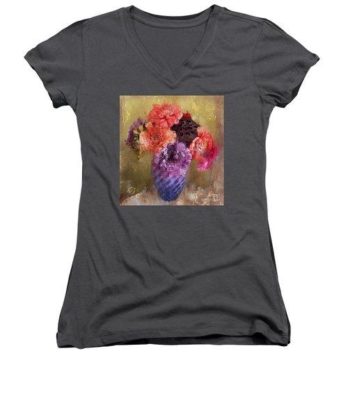 Summer Bouquet Women's V-Neck T-Shirt
