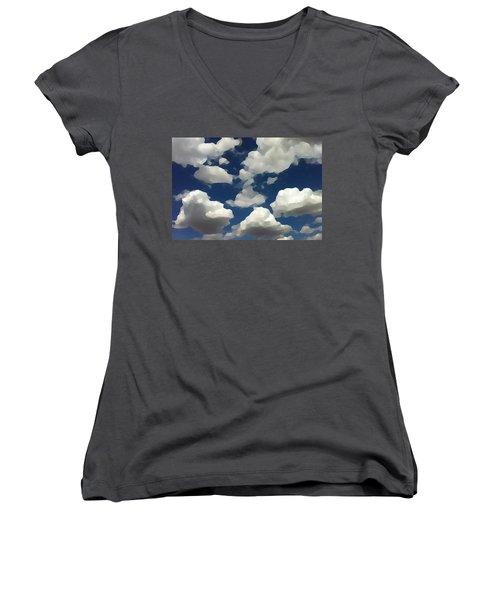 Summer Clouds In A Blue Sky Women's V-Neck