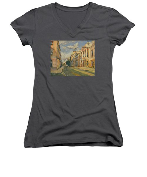 Summer Evening Pall Mall London Women's V-Neck (Athletic Fit)