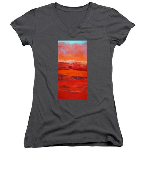 Summer Heat 12 Women's V-Neck T-Shirt (Junior Cut) by M Diane Bonaparte