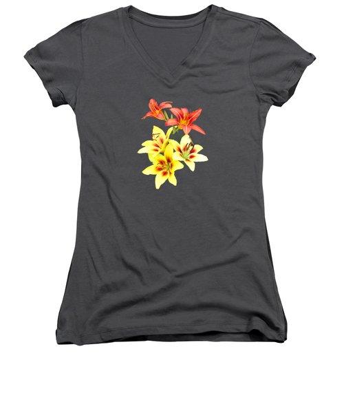 Summer I I  Women's V-Neck T-Shirt (Junior Cut) by Newwwman