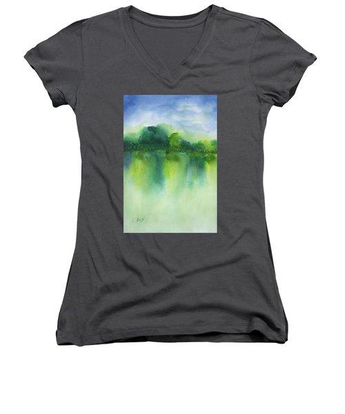 Summer Landscape Women's V-Neck T-Shirt
