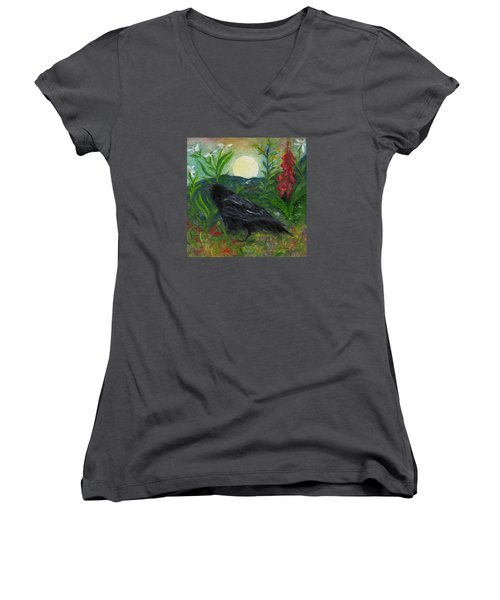 Summer Moon Raven Women's V-Neck